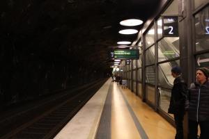 Stockholm Arlanda Airport Commuter Train Pendeltag in Skycity between Terminal 4 and 5
