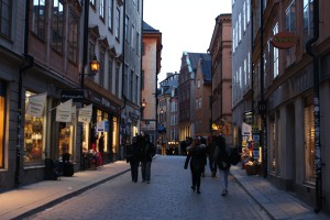 Main street of Gamla Stan