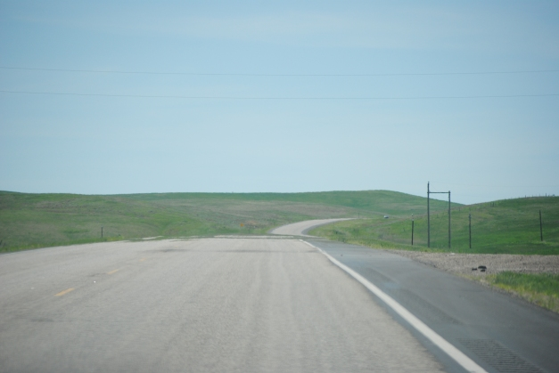 What's in South Dakota? Not much, as it turns out. Rapid City is a large town, hardly a city... there are lots of pretty fields, but not much else!