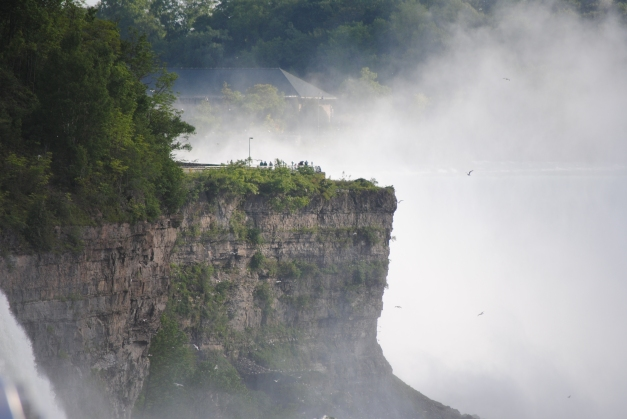 Okay, I love this lens... telephoto for life! This cliff struck me as very cool. I think it's the edge of the Canadian side of the falls, so that spray is from non-American Niagara. Weird.